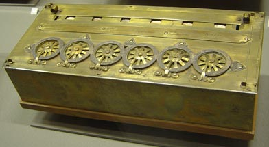 Pascal's machine performing subtraction and summation - 1642
